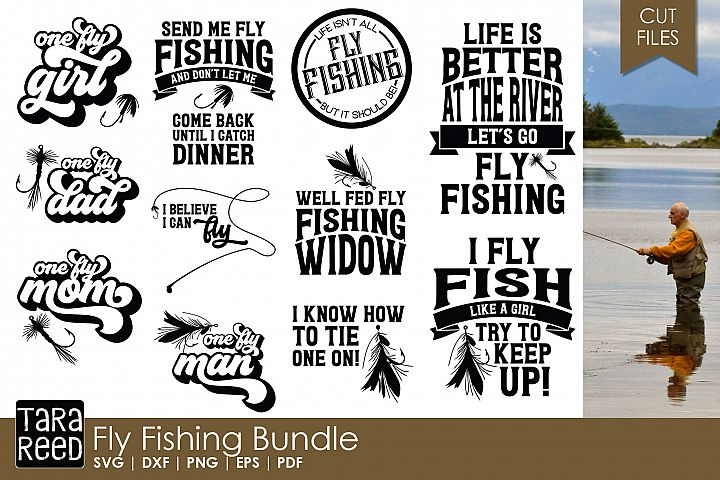 Fly Fishing - Fishing SVG and Cut Files for Crafters