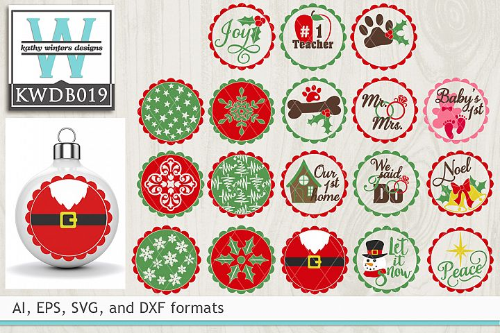BUNDLED Christmas Cutting Files KWDB019