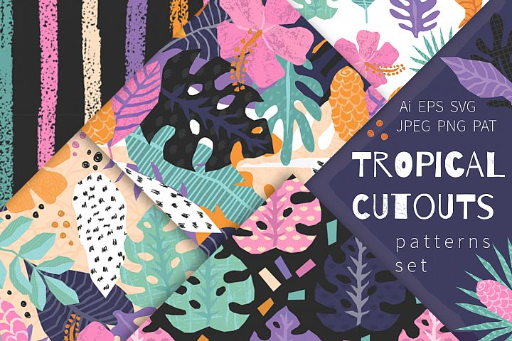 Tropical Cutouts Patterns Set