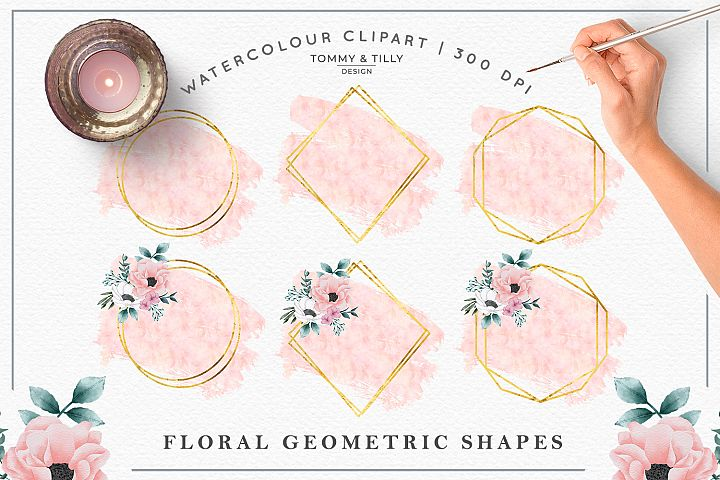 Blush Geometric Background Bundle - Sublimation PNG Clipart