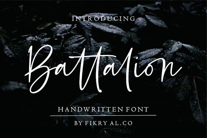 Battalion // handwitten font