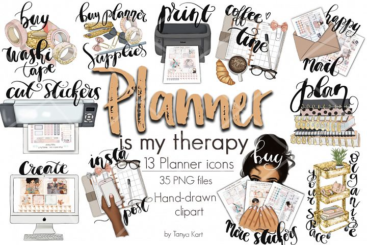 Planner Is My Therapy Icons
