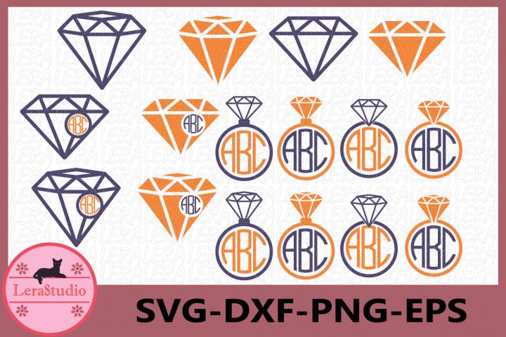 Diamond SVG, Diamond Monogram SVG File, Diamond svg
