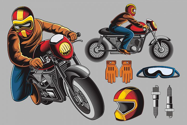 Bikers Vector Pack