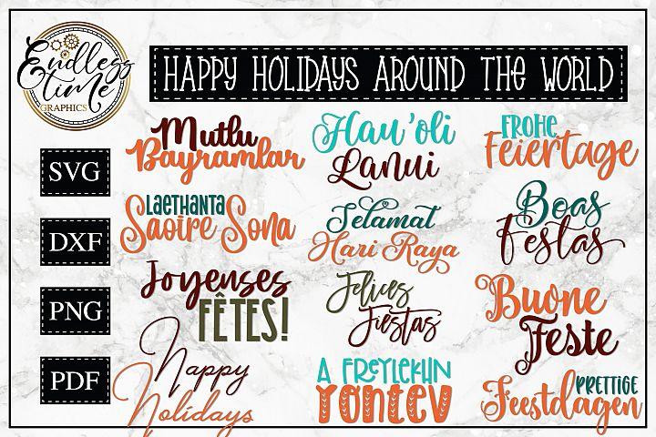 Happy Holidays Around the World - A Christmas SVG Bundle