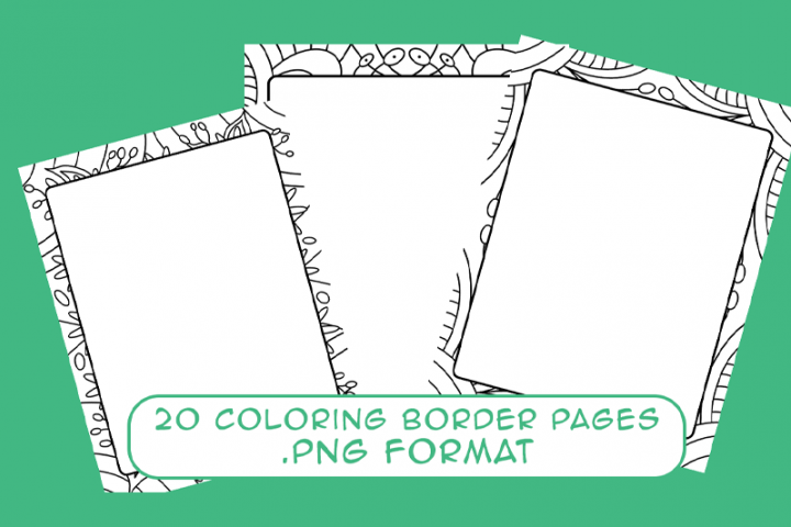 20 Coloring Border Pages