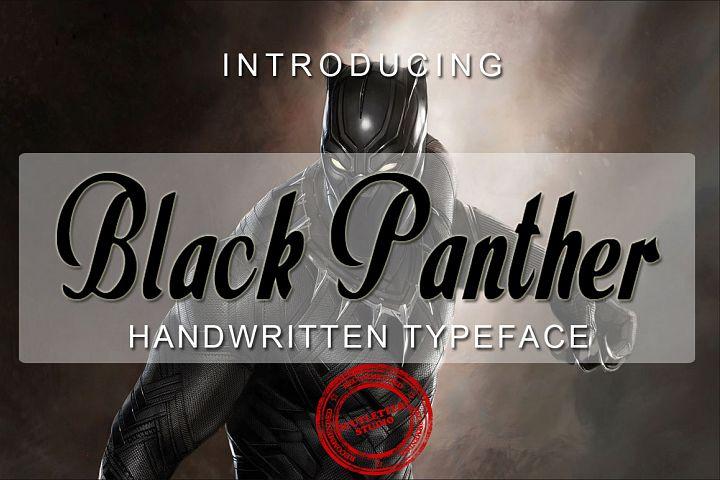 Black Panther - Handwritten Typeface Font