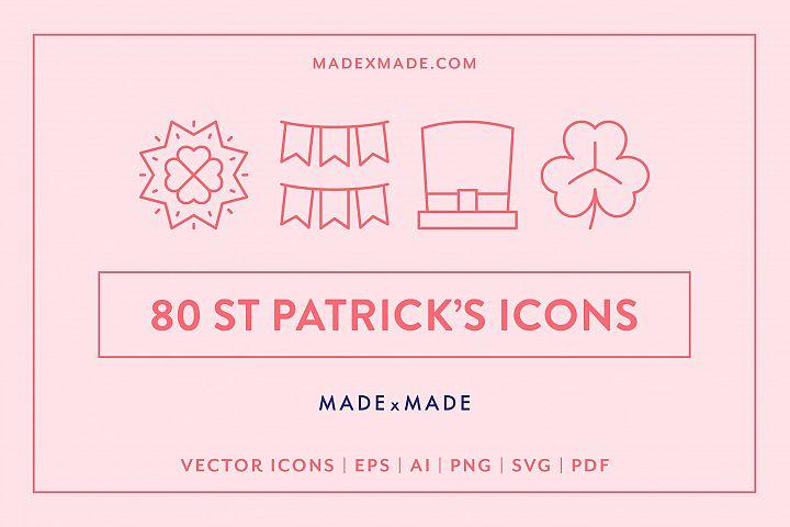 Line Icons - St Patricks Day