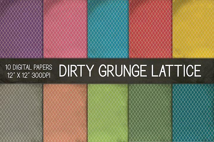 Dirty Grunge Lattice Digital Papers, Grunge Texture Paper