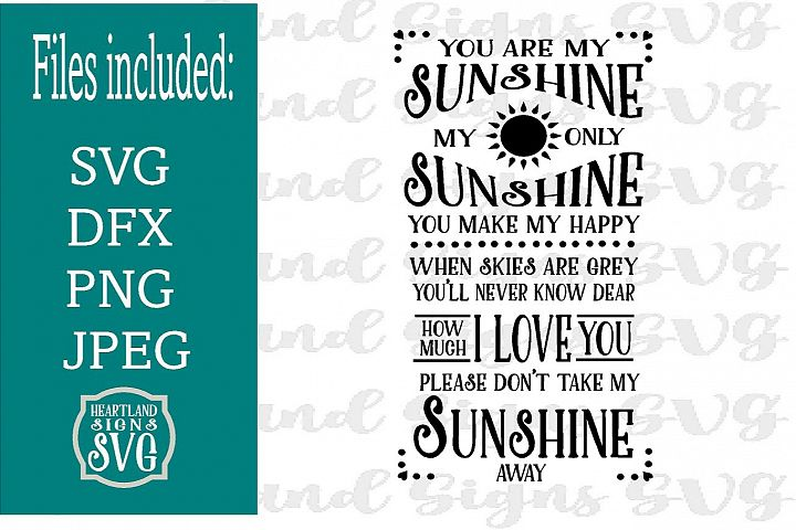 You Are My Sunshine SVG Nursery Decor New Baby