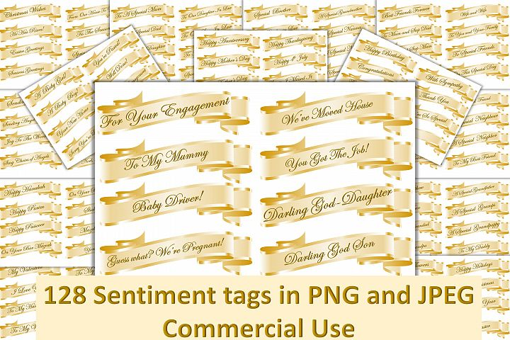 128 Sentiment tags JPEG Collage sheets and PNGs. CU