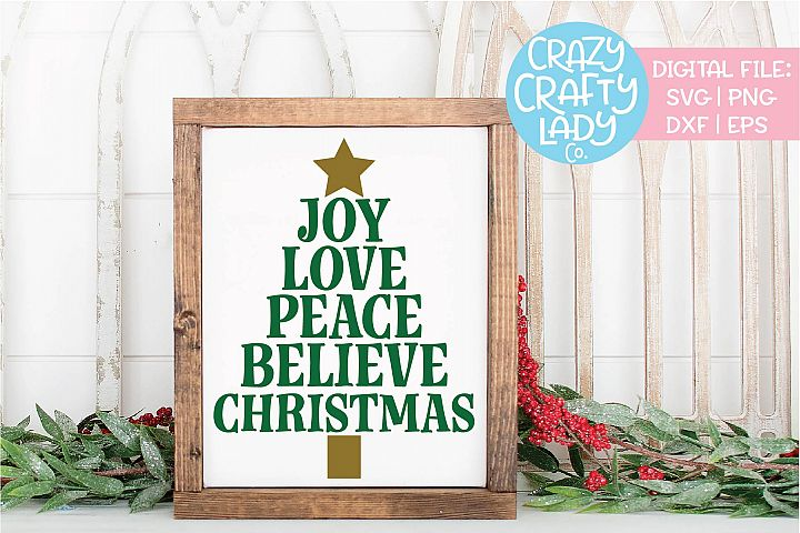 Christmas Tree Subway Art SVG DXF EPS PNG Cut File