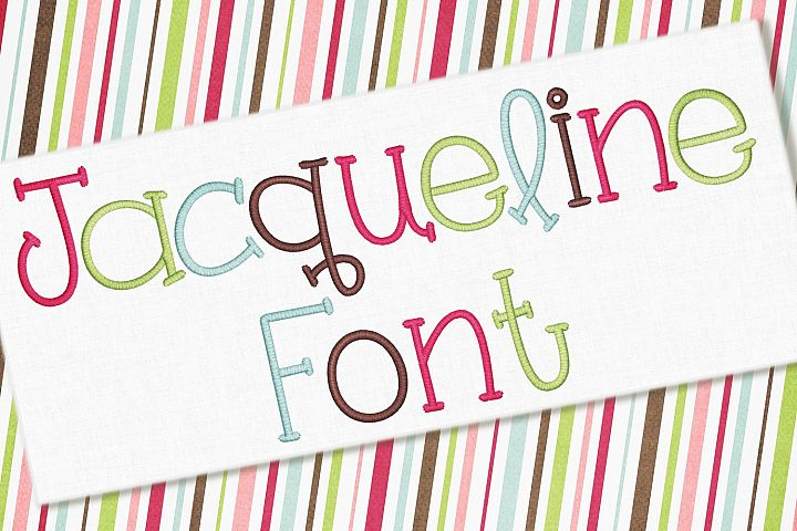 Jacqueline Embroidery Font 1382