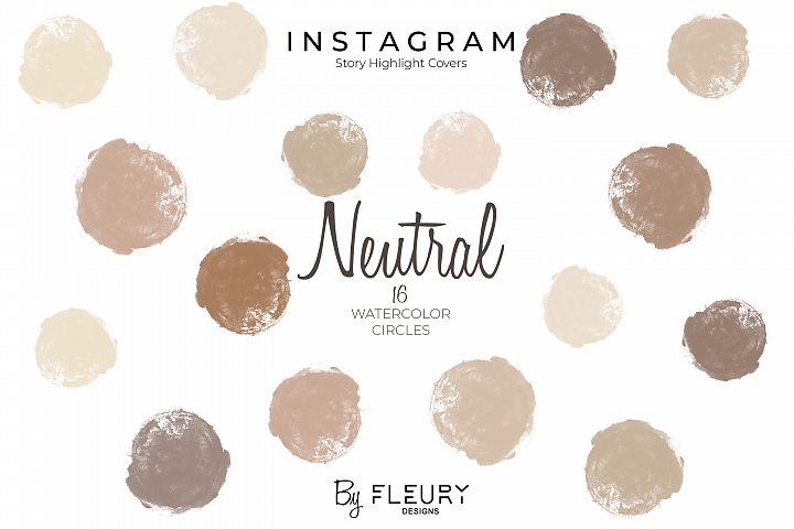 Instagram Stories Highlight Covers - Neutral