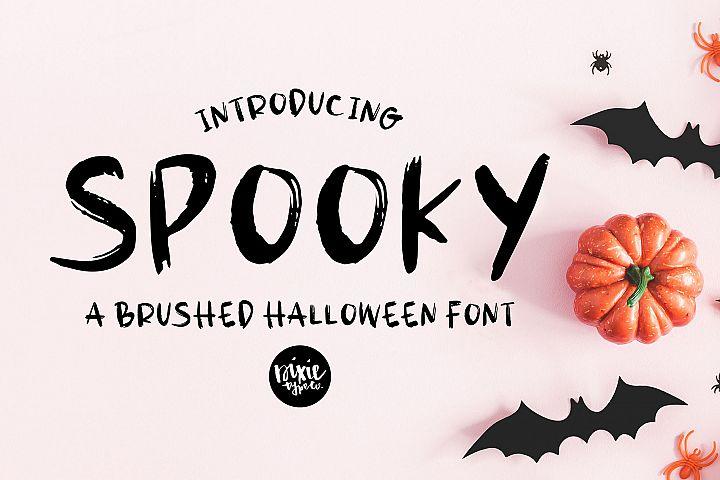 SPOOKY Halloween Distressed .OTF Font