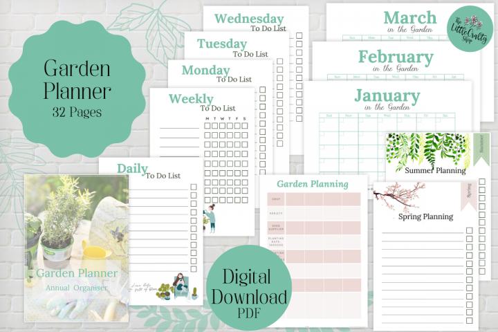 Garden Planner, PDF Printable