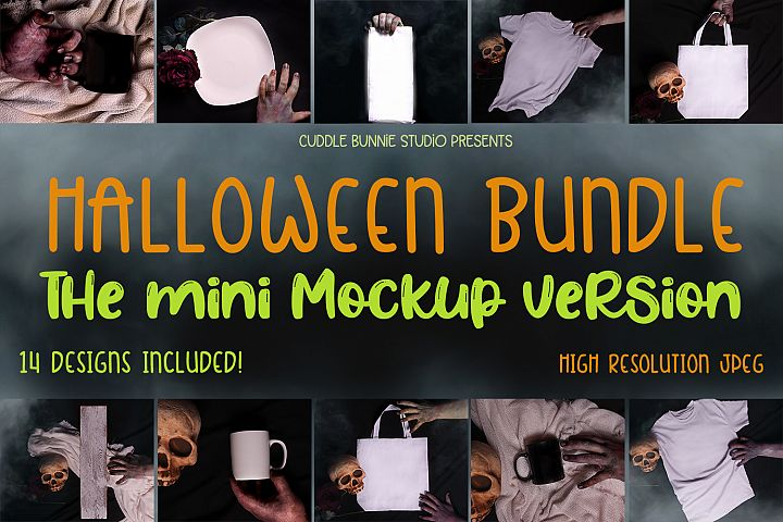 Mini Mockup Halloween Bundle| Scary and Enchanting Mockups