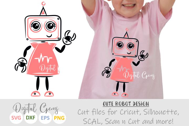Girl Robot SVG / EPS / DXF Files