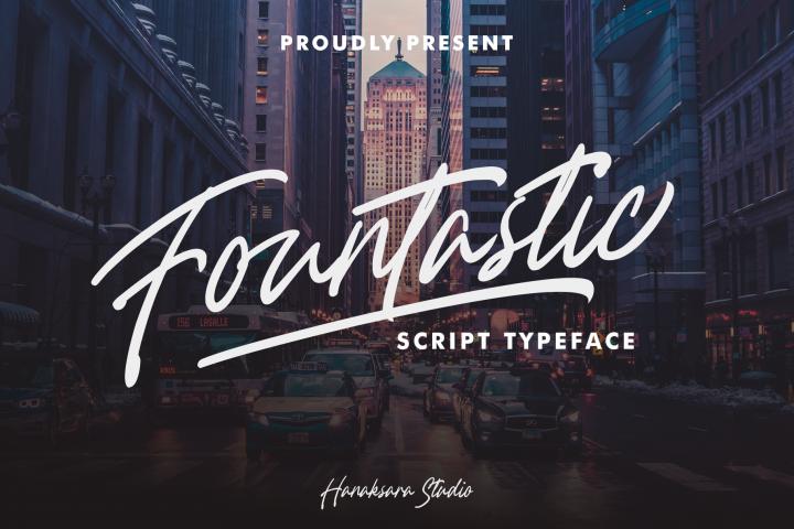 Fountastic Script Typeface