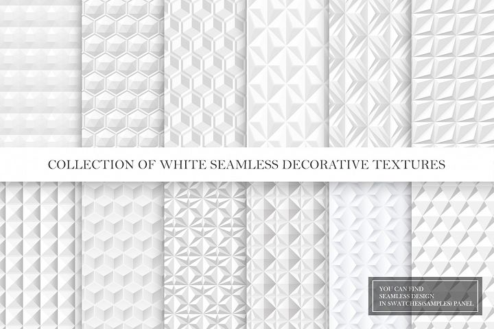 White and grey seamless 3d textures