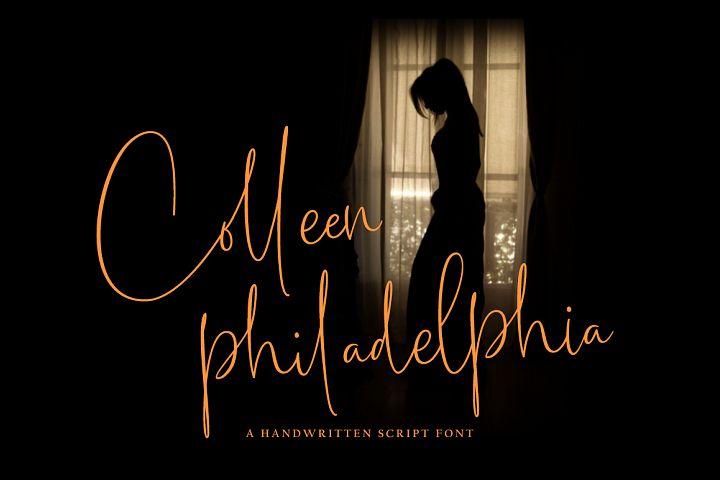 Colleen philadelphia font
