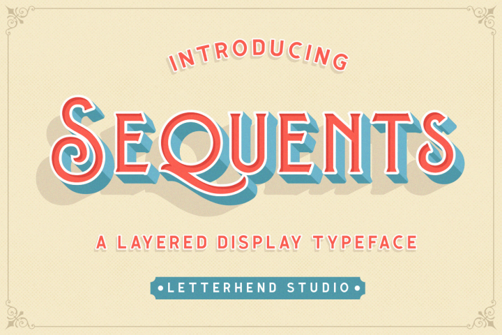 Sequents - Layered Font and ORNAMENT