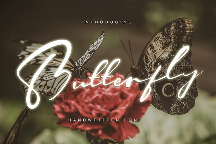 Butterfly - Hadwritten font