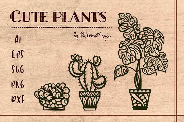 Cute plants set