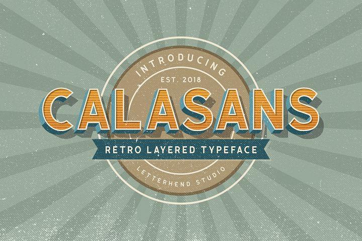 Calasans 7 Layered Font