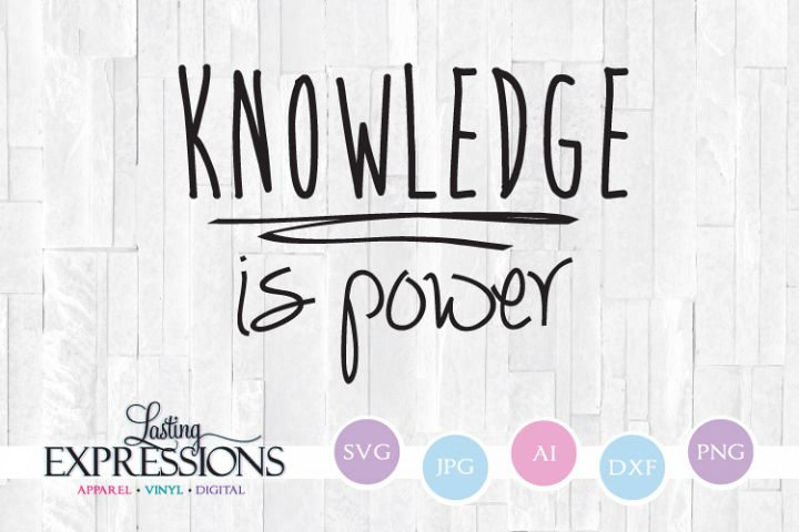 Knowledge is Power // SVG Design