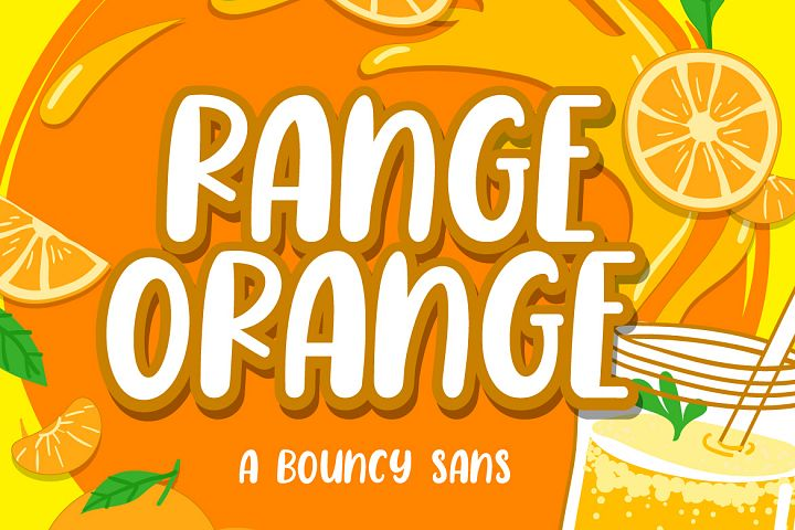 Range Orange - a Bouncy Sans