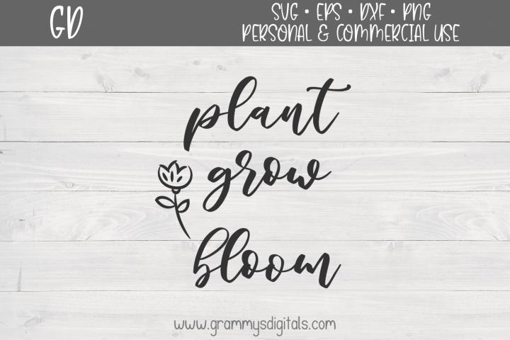Plant Grow Bloom SVG File
