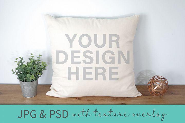 Pillow Crafters Mockup with Texture Overlay PSD JPG