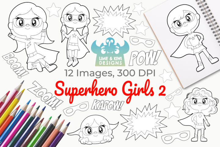 Superhero Girls 2 Digital Stamps