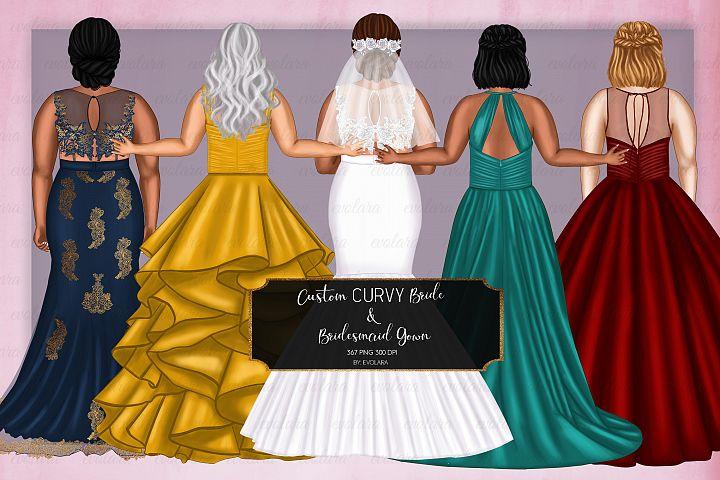 Curvy Bride Clipart Bridesmaid Clipart Best Friends Clipart