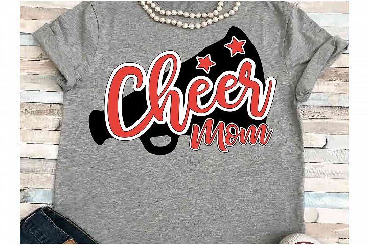 Cheer Mom SVG DXF JPEG Silhouette Cameo Cricut Cheerleade