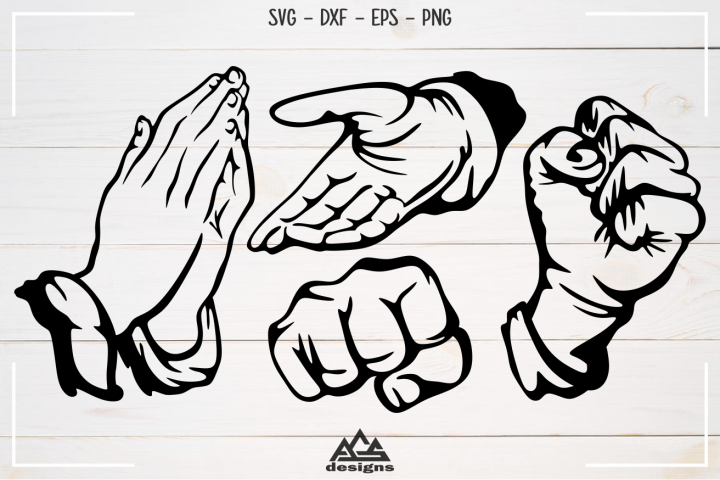 Crosshatch Hand - Hand Gesture Svg Design