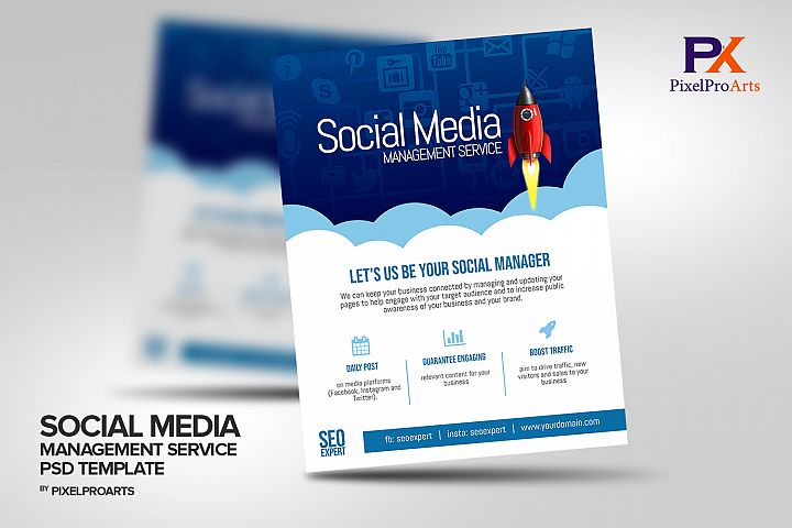 Social Media Management Service Flyer Template
