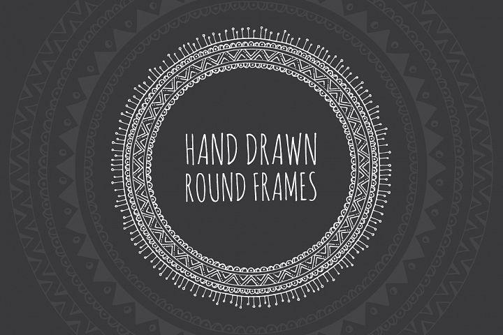 10 Hand Drawn Decorative Round Frames