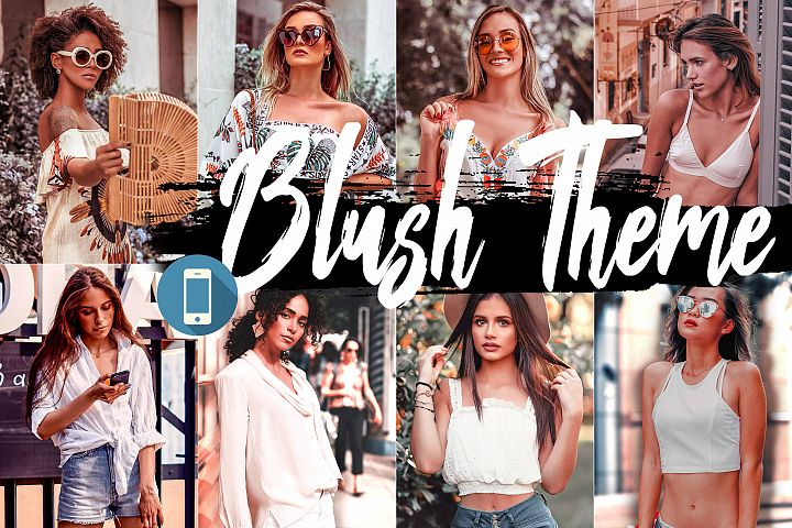 5 Blush Mobile Lightroom Presets, wonderland pink Adobe LR