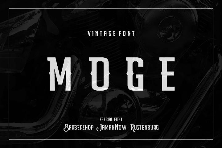 Moge Logo Font