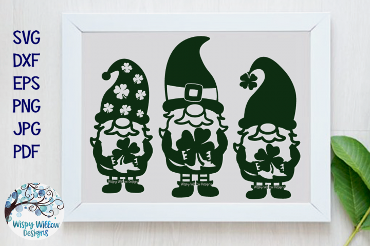 St. Patrick's Day Gnomes | Lucky Gnome SVG example image 1