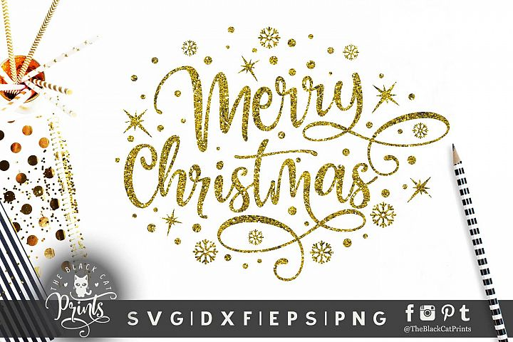 Merry Christmas SVG DXF PNG EPS 4