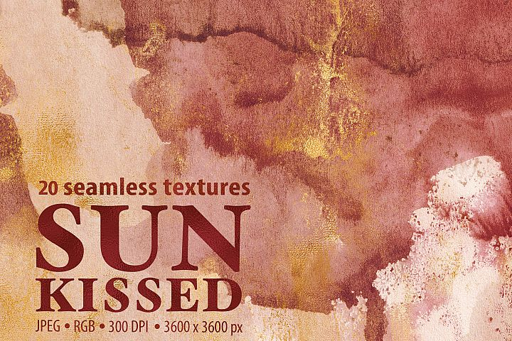20 Seamless Watercolor Textures - Burnt Orange Backgrounds