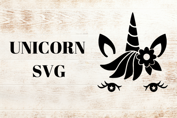 Black Unicorn SVG With Beautiful Eyes
