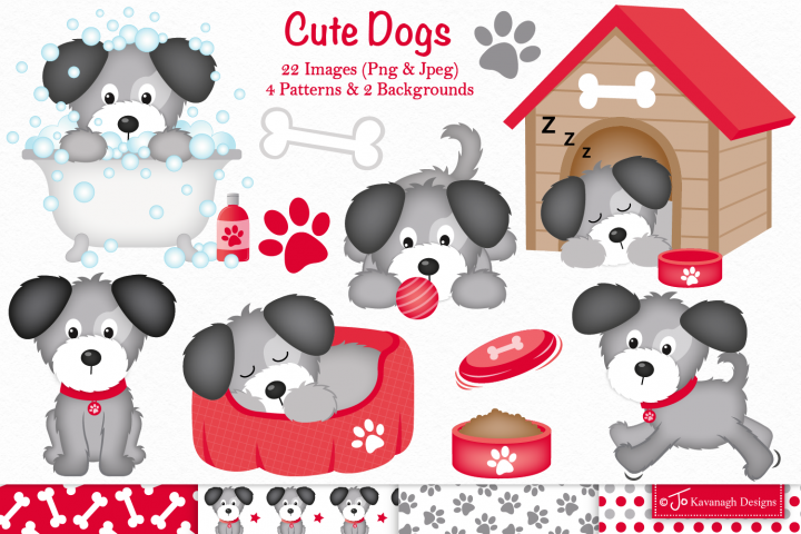 Dog clipart, Dogs -C37