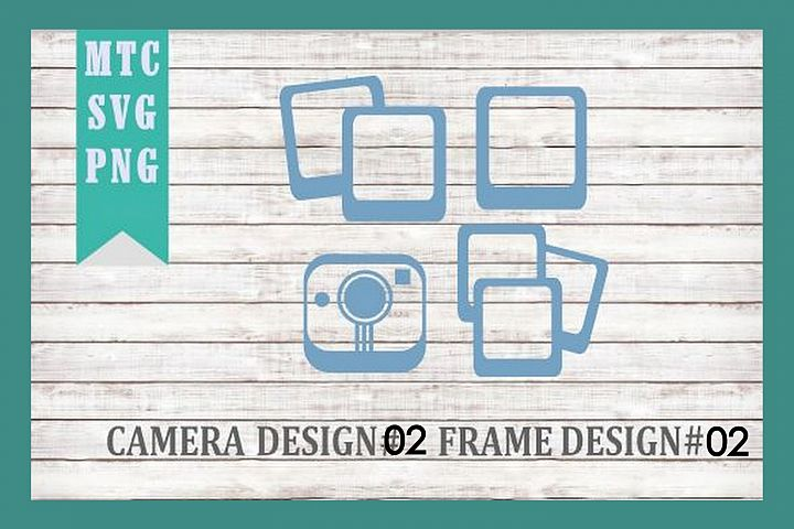 Polaroid Camera 02 & Film Frames 02 SVG Cut File