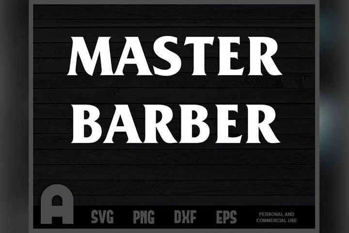 Master Barber T-Shirt Barbershop T Shirt Design