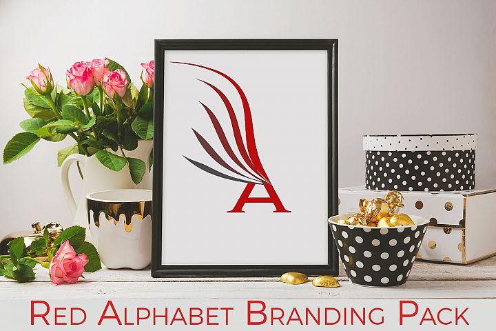 Red alphabet Branding Pack
