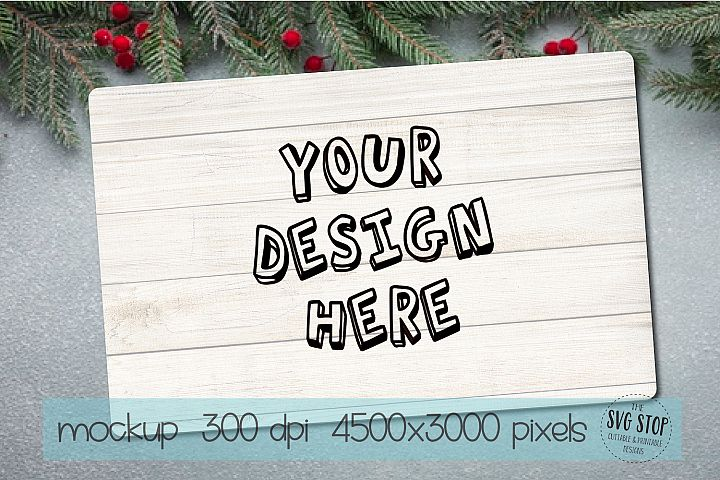 Wood Tray Mockup - Wood Sign Mockup